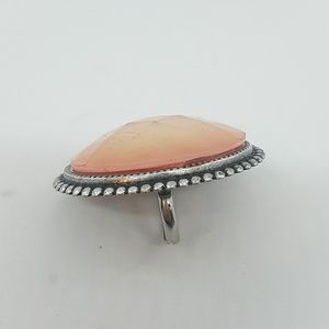 GASOLINE GLAMOUR Jewelry - Pink faceted opal cocktail ring sample